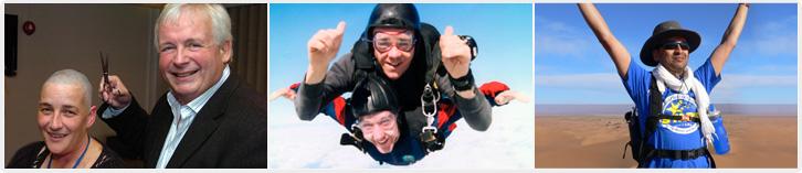 Run, trek, parachute... and get sponsored